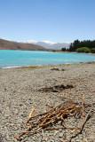 Pebbly beach, Lake Tekapo