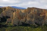 Omarama Clay Cliffs seen from the main road