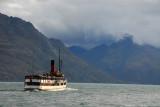 The TSS Earnslaw underway on Lake Wakatipu