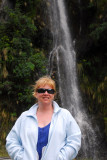 Debbie with yet another waterfall