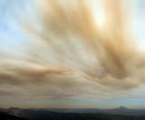 Sierra Buttes and Moonlight fire smoke