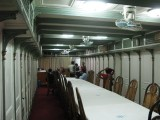 Interior of one of the Rocket steamers to Khulna