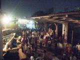 Sadarghat terminal at night