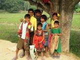 Kids on a village road