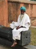a lone Sufi or Sadhu (?)