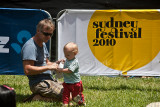 Dad and child at Sydney Festival