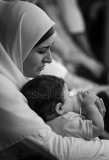 Hijab lady with baby