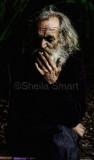 Man dragging in cigarette