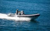 Naval launch on Sydney Harbour