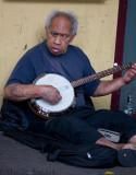 Busker on banjo