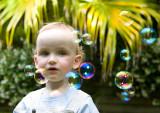 Little boy and bubbles