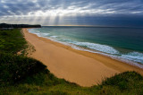 Mona Vale Beach with approaching storm