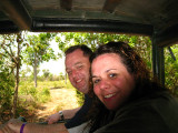 Rob and Tara in the truck