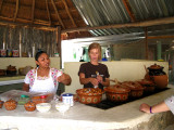The Mayan cook, and Kara the guide