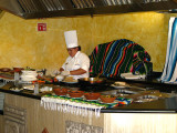 A cook in the dining hall