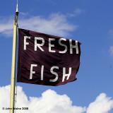Fresh Fish Flag Flying Freely