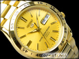 NEW SEIKO 5 MEN AUTOMATIC 50M SNKE06 SNK06K1 GOLD