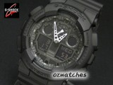 CASIO G-SHOCK MAGNETIC RESISTANT GA-100 GA-100-1A1 ALL BLACK