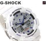 CASIO G-SHOCK MAGNETIC RESISTANT GA-100A GA-100A-7A WHITE