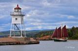130 - Grand Marais: Schooner Hjørdis And Lighthouse