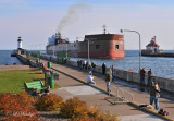 93.3 - Ore Boat James R. Barker Entering Duluth Ship Canal