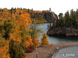 25.21 - Split Rock Lighthouse And Island, Clifftop View, Autumn