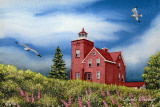 504 - Two Harbors Lighthouse, With Fireweeds