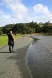 Shakespear Park, road half flooded