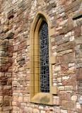 St. Marys Church window Lindisfarne