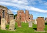 St Marys, Graveyard, church and Priory Lindisfarne.