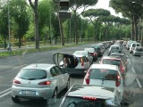 Roman Traffic Jam.Taken from bus window..