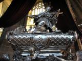 The tomb of John of Nepomuk inside St Vitis Cathedral, Prague, Czech Republic.