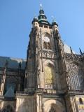 Side view St Vitus Church, Prague