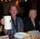 Barry and his swiss beer...with wife Joan.
