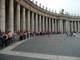Crowds wait at The Vatican, Rome