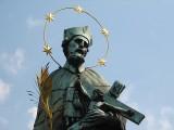 Statue of John  Nepomuk, on the Charles Bridge, Prague, Czech Republic