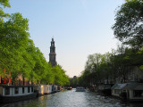 Crusing the canals of Amsterdam
