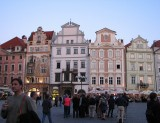 Early evening in Prague Town Square.
