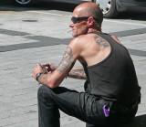 Dude in Christchurch Square.