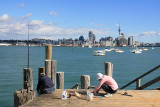 Looking at Auckland City from Stanley Point, North Shorth