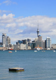 Auckland City taken from Stanley Point on the North Shore.