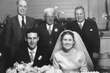 Wedding Photo. William, son of Florence Alder (our Grandfather Charles on right)