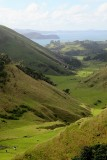 Beautiful Valley on Awhitu Peninsula leading out to the Manuaku Harbour and beyond to Auckland. (Hazy Day)