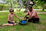 Basket weaving, Mana Island, Fiji