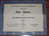 Adult Ministry Worker of the Year
