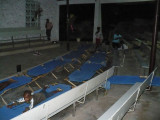 we have set up cots inside the tabernacle