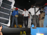 unloading the cargo before we can leave