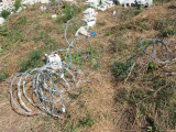 razor wire that was on top of the old wall