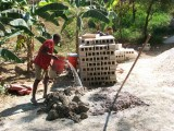 mixing sand and cement mix