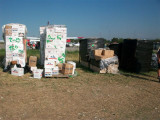 some of the piles of boxes that we received